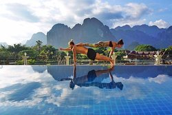 Yoga in Vang Vieng