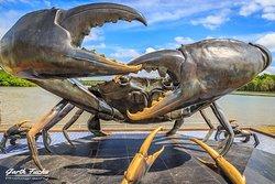 甲米城螃蟹海鸥雕塑