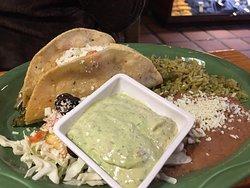 Cactus taco platter