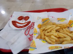 French Fries and Happy Ketchup Face