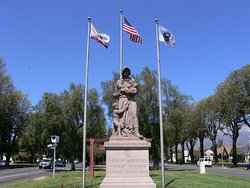 Madonna of the Trail Upland CA. Euclid Ave and Foothill Blvd (Route 66)