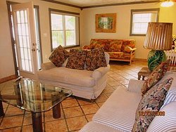 Dominica cottage large living room area
