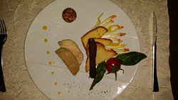 Menu à 32 : foie gras chocolat