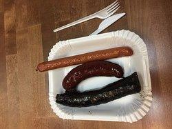 Sausages from Tapola Mustamakkarabaari