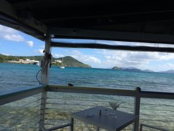 from the restaurant and bar area overlooking BVI