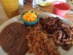 Spicey pork plate.