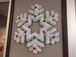 Christmas decoration, Comfort Inn & Suites, 22 Dracup Ave N, Yorkton, Saskatchewan