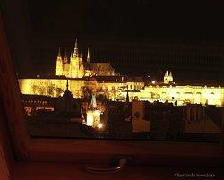 Vista del Castillo de Praga desde mi habitación