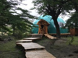 Rustic glamping experience