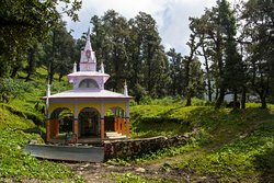 Nag temple situated at the end of Nag Tibba Trek