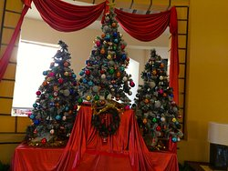 Christmas deco in the lobby