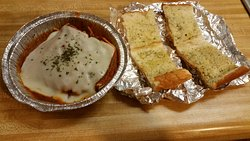 This was my take-home plate from Bella Italy this week. 1/2 the price of Olive Garden, and more