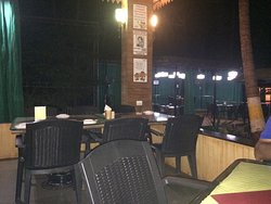 Lovely open place with average food