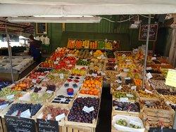 Puestos de frutas y verduras