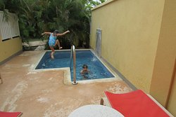 kids loved the plunge pool