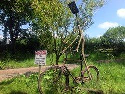 The bike man at Wheatland Farm!