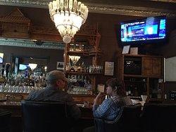 inside a the bar