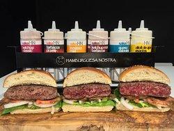hamburguesa nostra diferentes puntos
