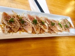 Tuna Tataki,  Qualicum Sushi, 133 W. 2nd Ave., Qualicum Beach, British Columbia