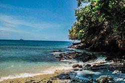 蓝色珊瑚礁海滩