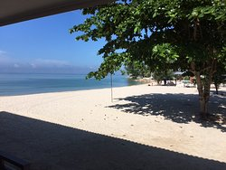 Hotel beach view from bungalow