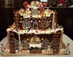 The Gingerbread Adobe on Display in the Lobby - WOW