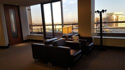 Comfortable chairs, great view and free WiFi at our floor.