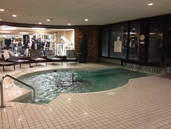 Indoor portion of hot tub