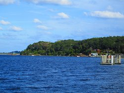 The boat dock and bluff overlooking the St. Johns River, Ft. Caroline N.M., Jacksonville