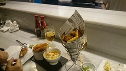 Fish & Chips e Hummus