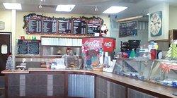Order counter at Carter's Burger