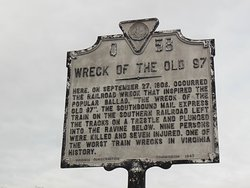 Wreck of the old 97 historical site