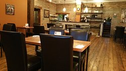 I loved the old wooden floors, and brick of the historic building where My-Thai is located.