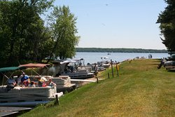 Keep your boat in the water for no extra charge while you stay with us! We also rent boats.