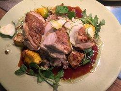 Big Breakfast - Nanna Sore Head, Homemade Pikelets, Seared Chicken Breast, Semi Freddo, Pork Bel