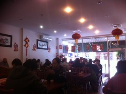 Restaurant is in readiness for Lunar New Year in February .