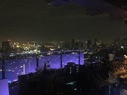 Sky bar on the roof top is awesome view night of BKK,