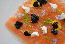 Sake Cured Salmon Carpaccio