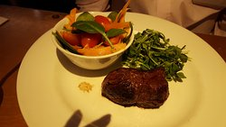 Our steak and salad