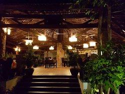 The open restaurant beside the pool