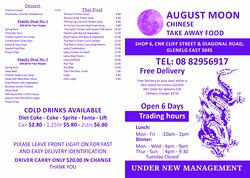 August Moon Chinese Take Away Food