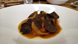 Potimarron en ravioles aux truffes noires