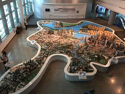 Full view of Singapore City Gallery's main attraction - The Central Area Model