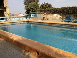 on a 5 minutes walk from the hotel there is a public swimmingpool
