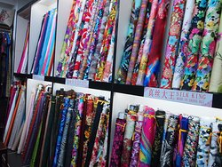 Sea print fabric Center