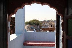 desde el vestíbulo de la habitación individual a su terraza privada