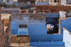 vista de la vida en la ciudad desde la terraza