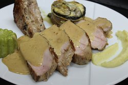 Cote de cochon breton au miel de fleurs