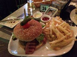 Gorgeous food , big portions , friendly staff in this modern spacious restaurant . Good value to