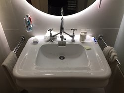 No space in the sink area or bathroom for a reasonable amount of toiletries needed for 3 nights.